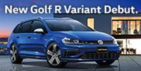 最速のフォルクスワーゲンに、クラス最大級のスペースを。New Golf R Variant